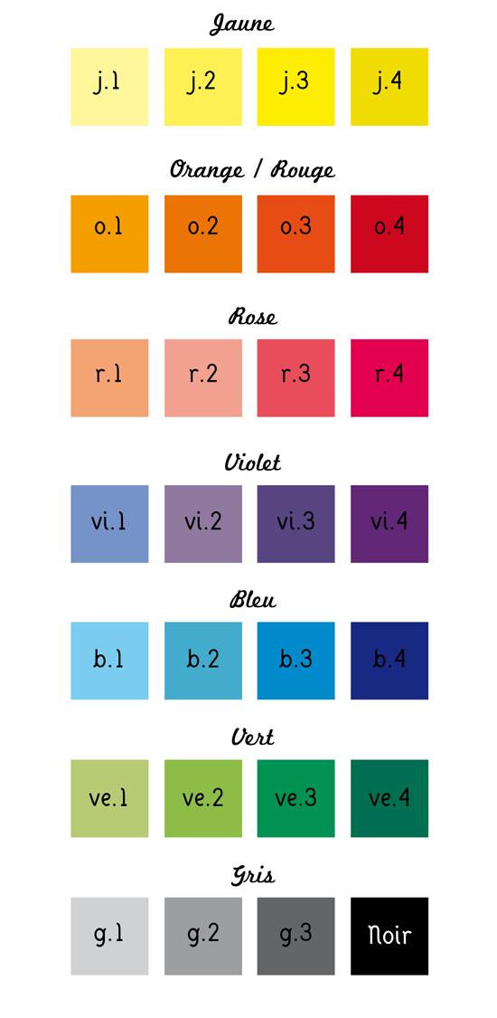 Connu Nuancier de couleurs – Invente moi un Faire-part – Faire-part  GJ63